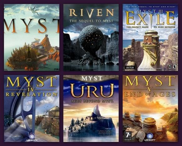 boîtes du jeu Myst