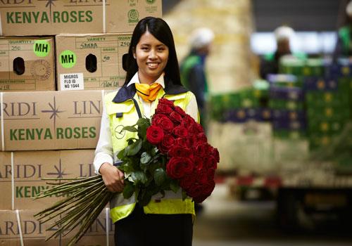 Transport trandafiri din Kenya
